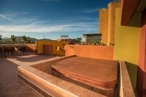 Contemporary Comfortable Home Near the Sea in Loreto Baja Sur: Hot Tub off of Master Bedroom