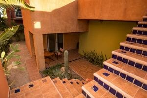 Contemporary Comfortable Home Near the Sea in Loreto Baja Sur: Light filled courtyard