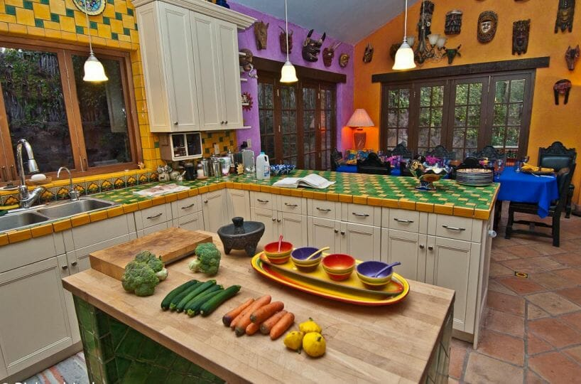 Hacienda Style Mexican Home in Loreto kitchen out