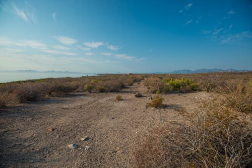 Coronado Island and Mountain Views from this beachfront land in Loreto