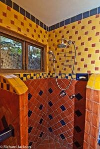Hacienda Style Mexican Home bath main casa