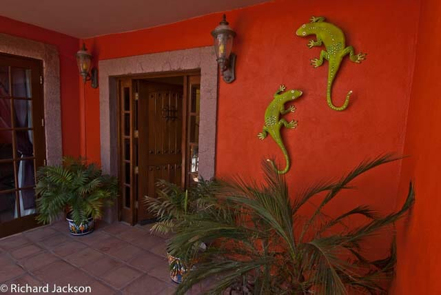 Hacienda Style Mexican Home in Loreto front door 4