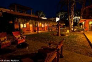 Hacienda Style Mexican Home in Loreto guest rooms night