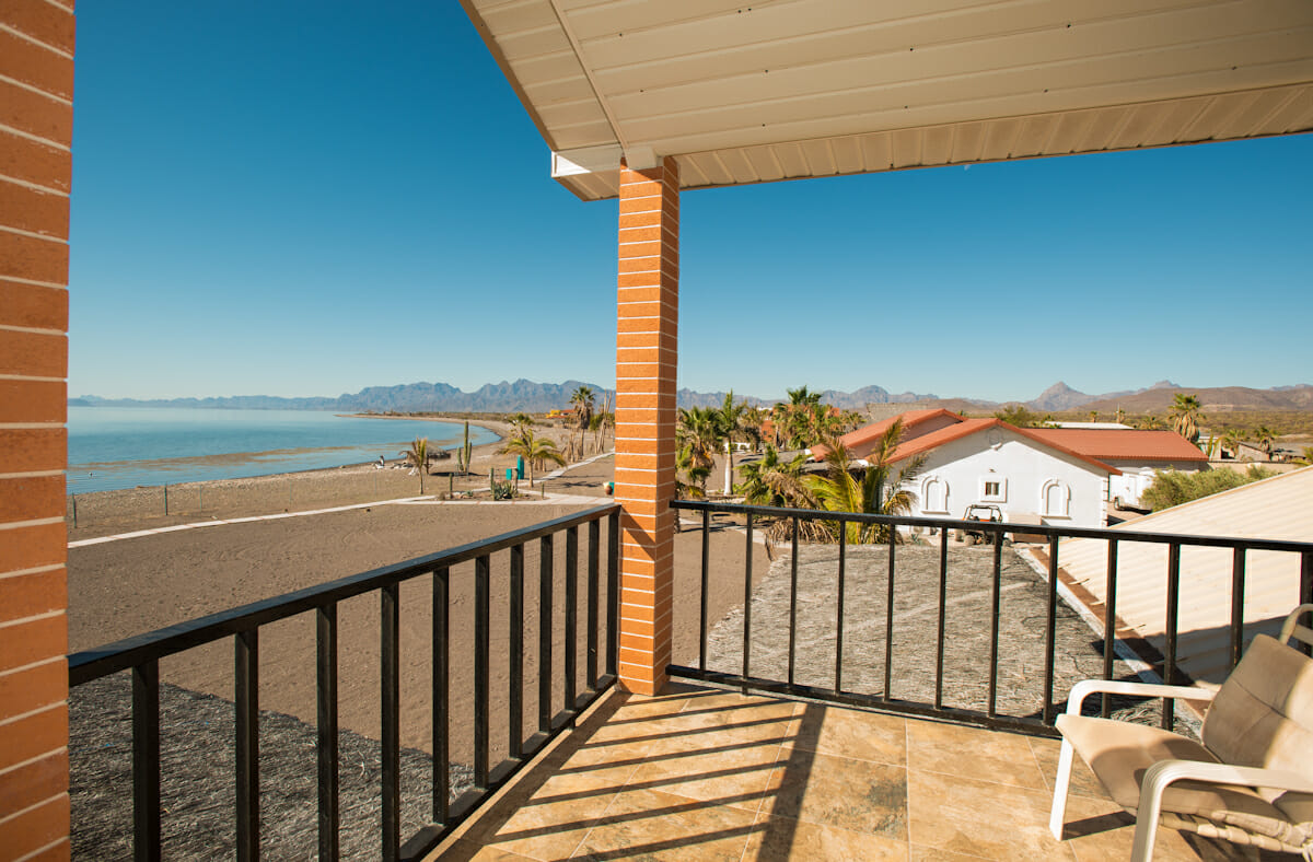 Beachfront House in Loreto Baja looking South