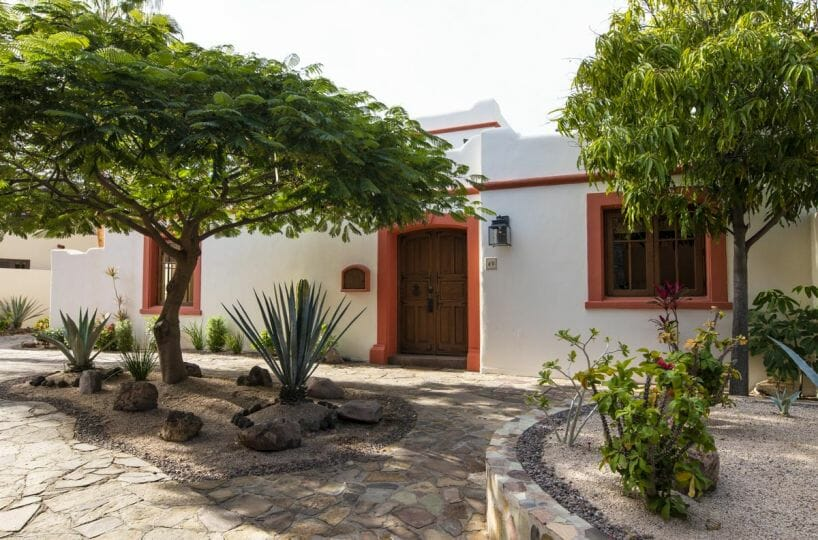 Furnished Beachside Home for Sale in Loreto Bay. Front View.