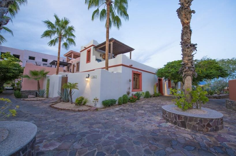 3 Bed/3 Bath Furnished Beachside Home for Sale in Loreto Bay. front view looking NW