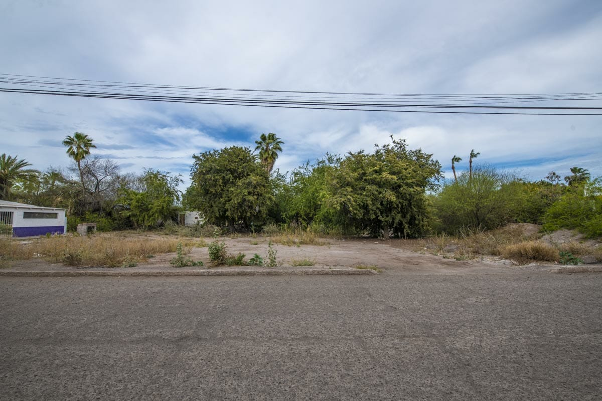 Large Lot in good location ready to build or subdivide in Loreto: Corner of Misioneros y Atanasio Carrillo.