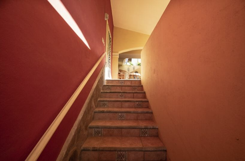 Four bedroom home in Loreto on large lot with sea and mountain views!: staircase