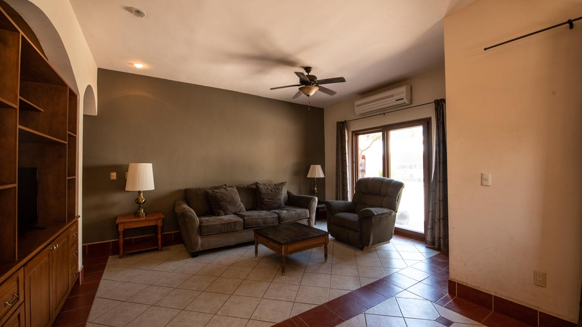 Casa Uno Living room. 2 Bd 2 Bth Hm in private neighborhood, Loreto.
